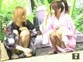 お祭りに来ていた女子校生っぽい浴衣のポニーテールギャル二人組がぱんちらしてたから撮ったった